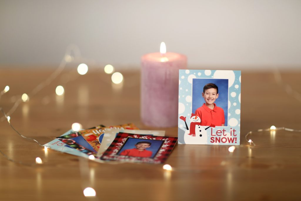 School pictures with fun, holiday-themed frames
