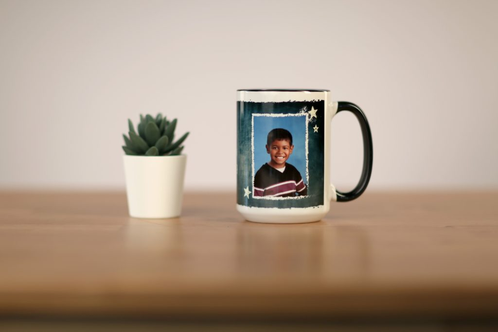 Fun mugs personalized with your child's name and photo