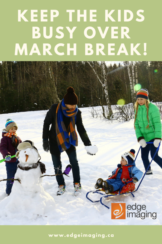 Playing outside, crafts, writing...we guarantee you'll find a unique way to keep your kids busy this March Break.