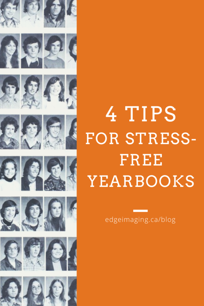 4 ways to make yearbooks stress-free! Elementary schools and high schools can easily start a yearbook with these tips.